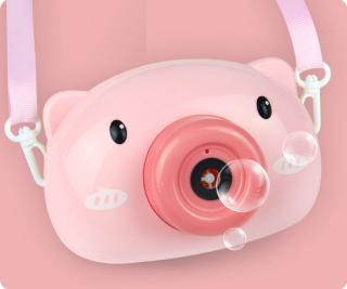 [ Hàng đẹp 2020 ] Máy Thổi Bong Bóng - Máy Thổi Bong Bóng Hình Heo , Hình Gấu Trúc - Máy ảnh thổi bong bóng xà phòng đồ chơi tự động hình chú lợn và gấu trúc xinh xắn dành cho bé thumbnail