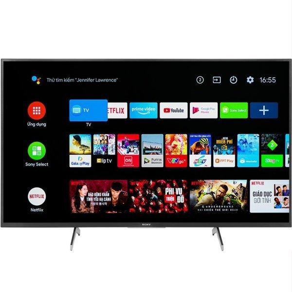 Bảng giá Android Tivi Sony 4K 55 inch KD-55X8050H tìm kiếm giọng nói ,wifi Ứng dụng Youtube Netflix Fptplay