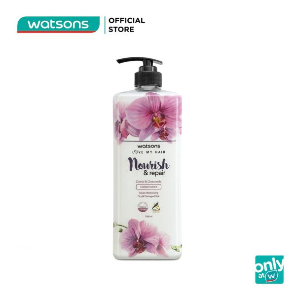Dầu Xả Watsons Love My Hair Orchid & Chamomile Conditioner Dưỡng Ẩm Sâu Phục Hồi Hư Tổn 1000ml