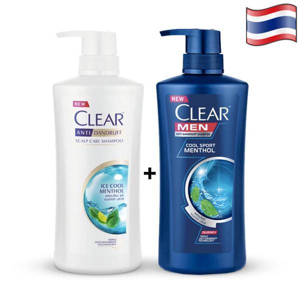 COMBO 2 CHAI DẦU GỘI CLEAR BẠC HÀ 480ml VÀ CLEAR MEN 450ml - THÁI LAN