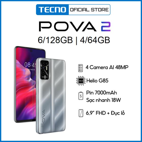 Điện thoại Tecno POVA 2 6GB/128GB | Điện Thoại Thông Minh Chiến Game Cực Đỉnh - Hàng Chính Hãng - Bảo Hành 13 Tháng