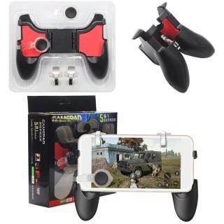 Tay cầm chơi game điện thoại ,chơi game liên quân mobile, tốc chiến, freefire, pubg... 5 trong 1, tặng kèm nút thumbnail