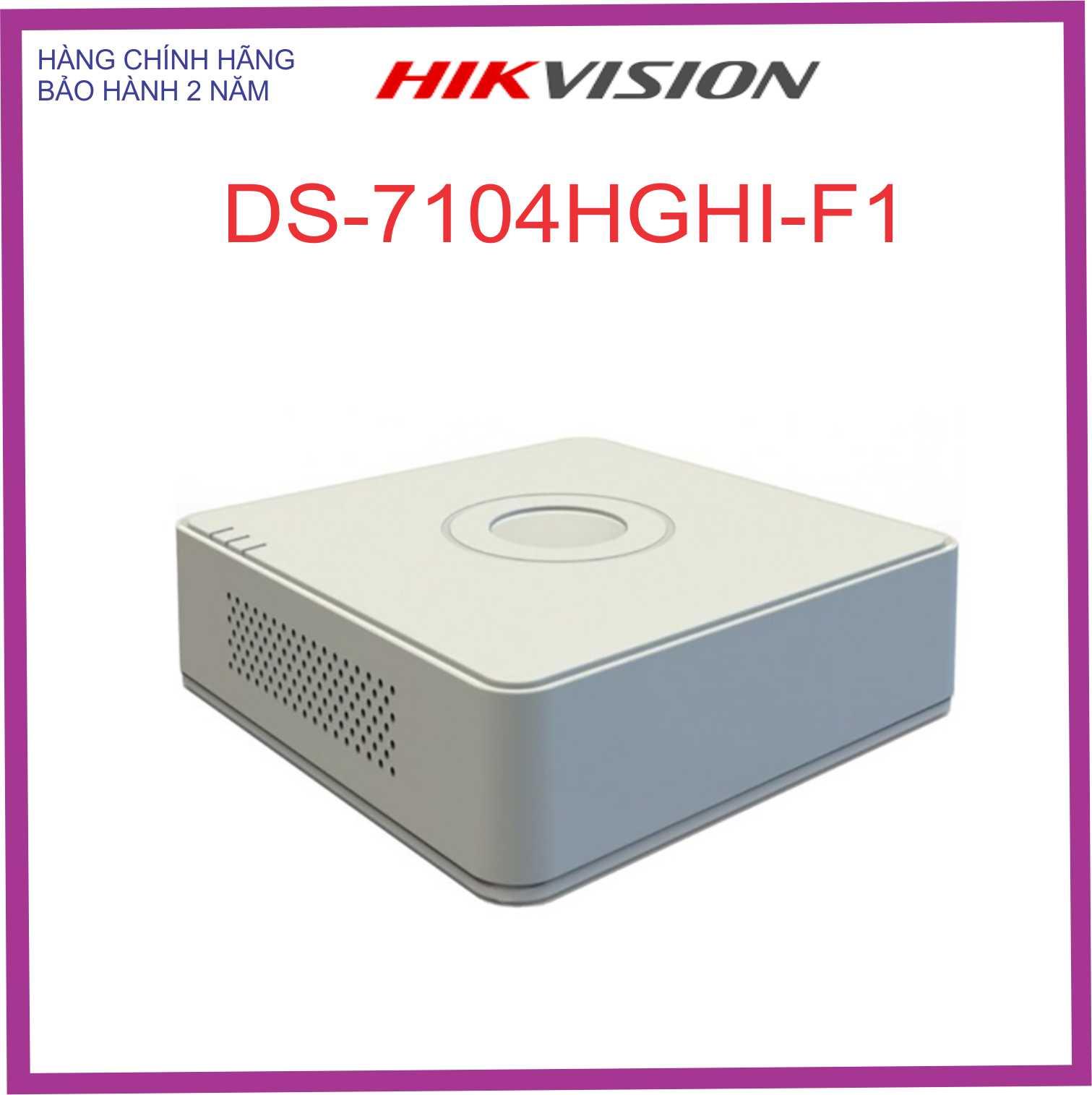 ĐẦU GHI HÌNH DS-7104HGHI -F1 4 KÊNH