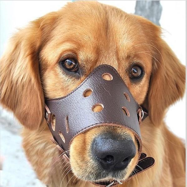 Rọ mõm cho chó loại Rọ mõm da chống sủa (5 size) phù hợp chu vi mõm từ 15-43cm|XS (mõm 18-23cm)