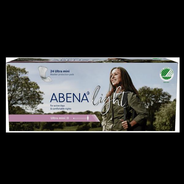 Băng vệ sinh hằng ngày Abena Light Ultra Mini 0 (100ml) (24 miếng) - lõi giấy tươi cao cấp, hoàn toàn tiệt trùng giá rẻ