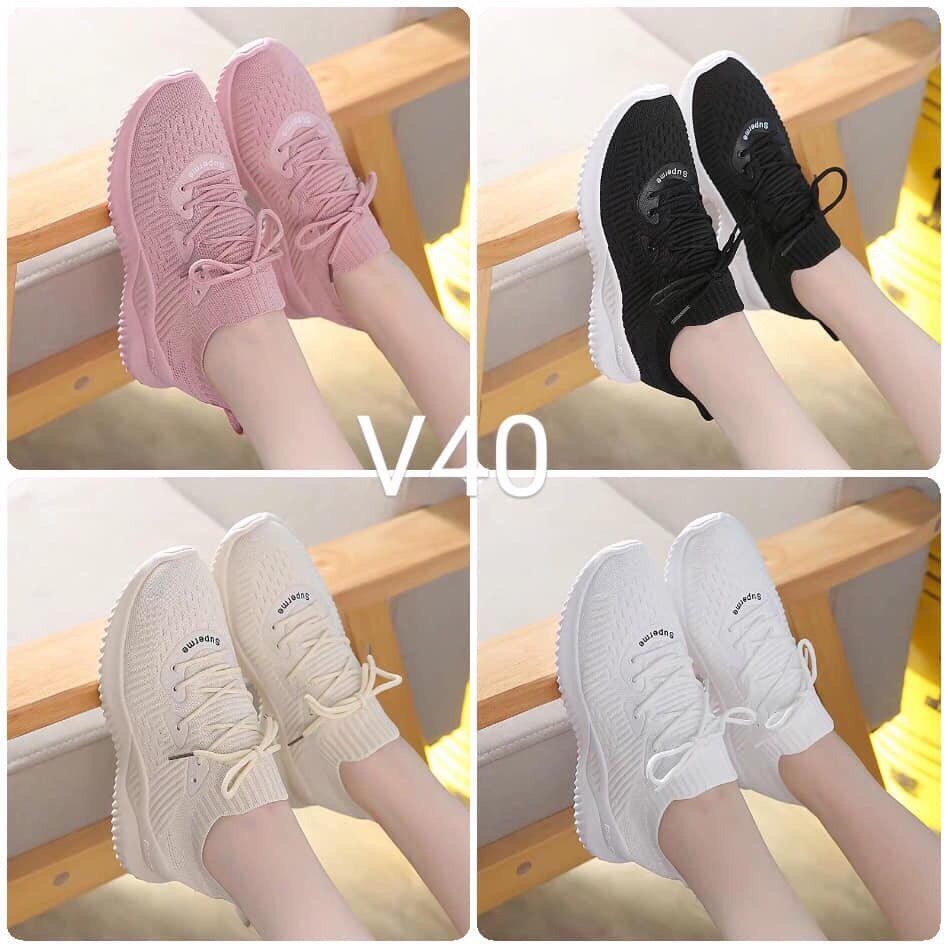 Voucher Ưu Đãi (Giá Sốc 4 Màu Video Thật) Giày Thể Thao Sneaker Nữ Cổ Chun Siêu đẹp Antony Store Thiết Kế Trẻ Trung, Năng động