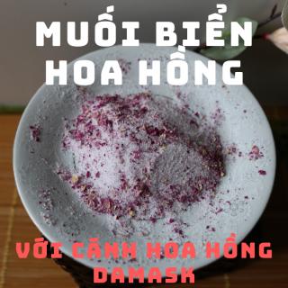 Muối biển hoa hồng handmade tẩy da chết body, trọng lượng 100 gr thumbnail