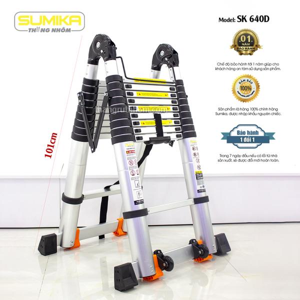 SK640D Thang nhôm rút đôi Sumika SK640D (Màu đen - A 3.2M