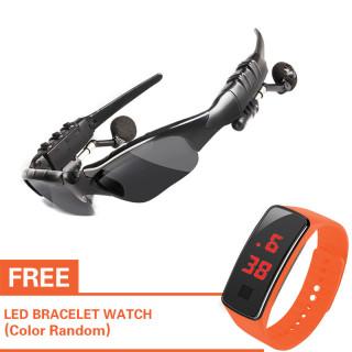 Có đồng hồ LED miễn phí Mắt Kính Tai Nghe Âm Thanh Bluetooth Thiết Kế Phong Cách Cool Ngầu - Sản Phẩm Hot 2020- Chính Hãng 100% Chất Lượng Cao thumbnail
