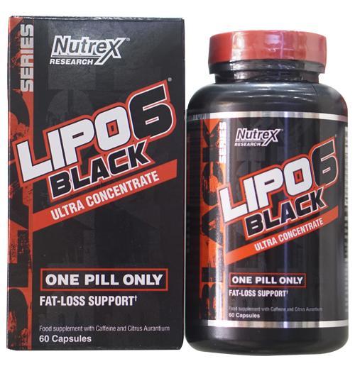 Sản phẩm hỗ trợ đốt mỡ Lipo 6 Black Ultra Concentrate - hộp 60 viên
