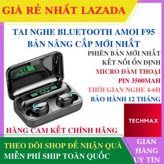 Tai Nghe Bluetooth AMOI Pro F95 Bản Cao Cấp Hỗ Trợ Mọi Dòng Máy Pin Trâu 3500mah - Tai nghe bluetooth tốt hơn i7s, i9s, i11s, Amoi f9 - Tai nghe bluetooth mini pin trâu - Tai nghe chống ồn thumbnail