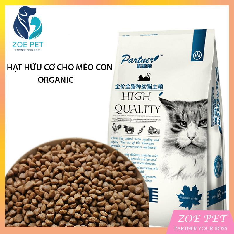 Thức ăn hạt cho mèo nhỏ organic - Túi 1,5 kg, giúp các bé bổ sung chất sơ và chất dinh dưỡng giảm nguy cơ bị sỏi thận