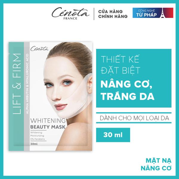 Miếng mặt nạ nâng cơ mặt - Mặt nạ dưỡng trắng da cấp ẩm Cénota Whitening Beauty Mask 30ml cao cấp