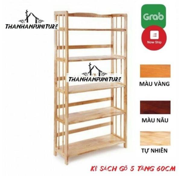 [Rẻ Vô Địch] Kệ sách gỗ 60cm - 5 tầng
