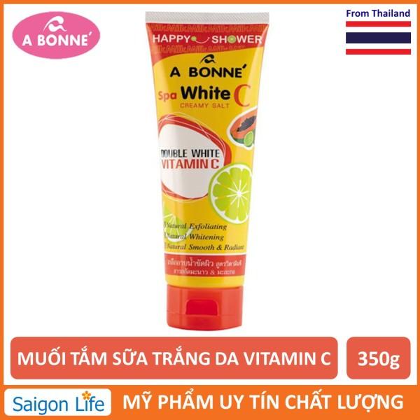 Muối Tắm Sữa Spa A Bonne Vitamin C Làm Trắng Da, Tẩy Tế Bào Chết A Bonne Spa White C Creamy Salt 350g nhập khẩu