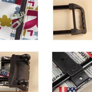 Túi kéoCo du lịch có bánh xe kéo tiện dụng(Cờ Mỹ và báo Retro),túi kéo có bánh xe tiện dụng thumbnail