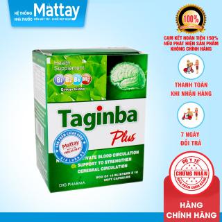 Taginba Plus - DHG Pharma - Hộp 100 Viên - Giúp Hoạt Huyết, Hỗ Trợ Tăng Cường Tuần Hoàn Não thumbnail