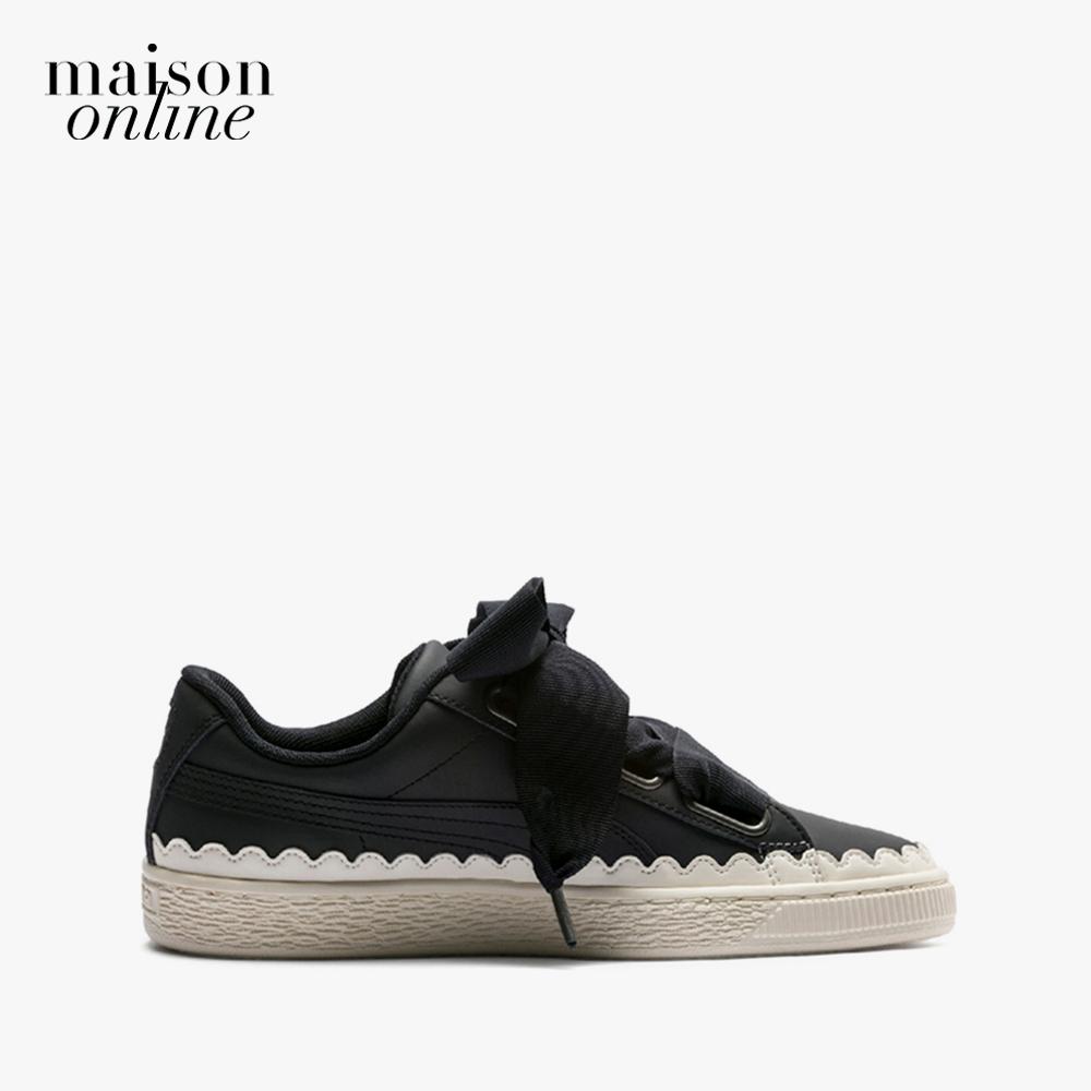 Giày PUMA Basket Heart Scallop Wn S  Black-Pum Cùng Giá Khuyến Mãi Hot