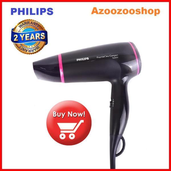 [HCM]Máy sấy tóc Philips BHD002 sấy khô tóc mạnh mẽ và chăm sóc tóc 1600W 3 cài đặt nhiệt và tốc độ Chế độ ThermoProtect