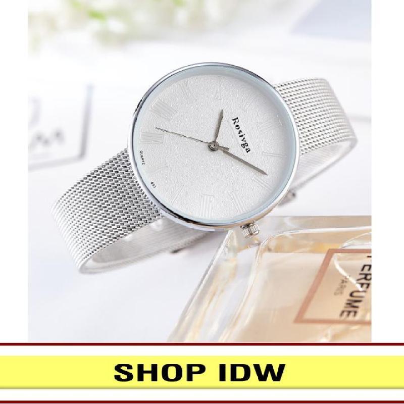 [Có video quay thật] Đồng hồ nữ dây hợp kim thời trang Rosivga IDW S3261 (Nhiều màu lựa chọn)