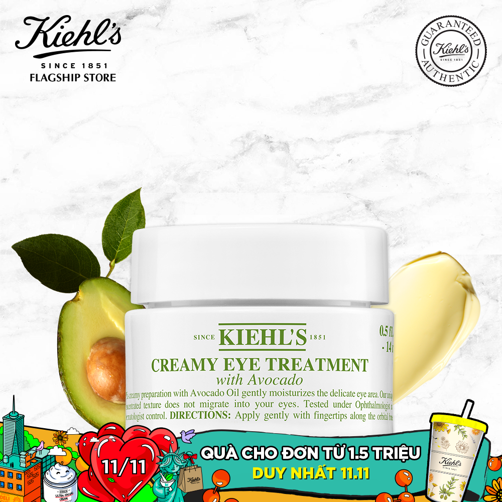 Kem Dưỡng Ẩm Vùng Mắt Kiehl's Creamy Eye Treatment with Avocado 14ML