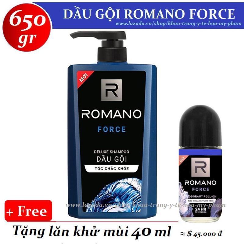 Romano - Dầu Gội Cao Cấp Force 650 gr + Tặng lăn khử mùi 40 ml giá rẻ
