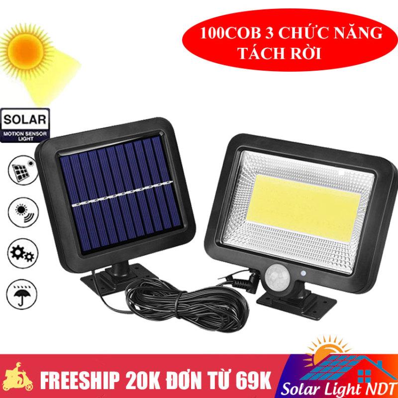 Đèn Năng Lượng Mặt Trời 100LED COB LED Cảm Biến Hồng Ngoại 3 Chế Độ