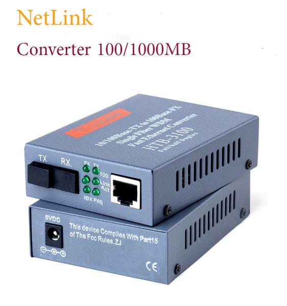 Cặp 2 Converter quang Bộ chuyển đổi quang điện NetLink HTB 3100 AB / GS-03 1000MB ( 1Gb )kèm nguồn - Hàng mới
