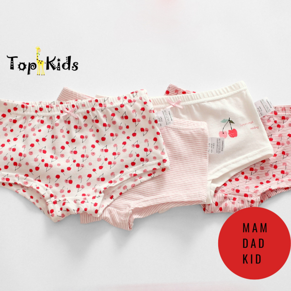 Giá bán Set 4-Quần chip bé gái - thương hiệu MAM DAD KIDS - chất liệu cotton, thấm hút, co giãn tốt , Topkid