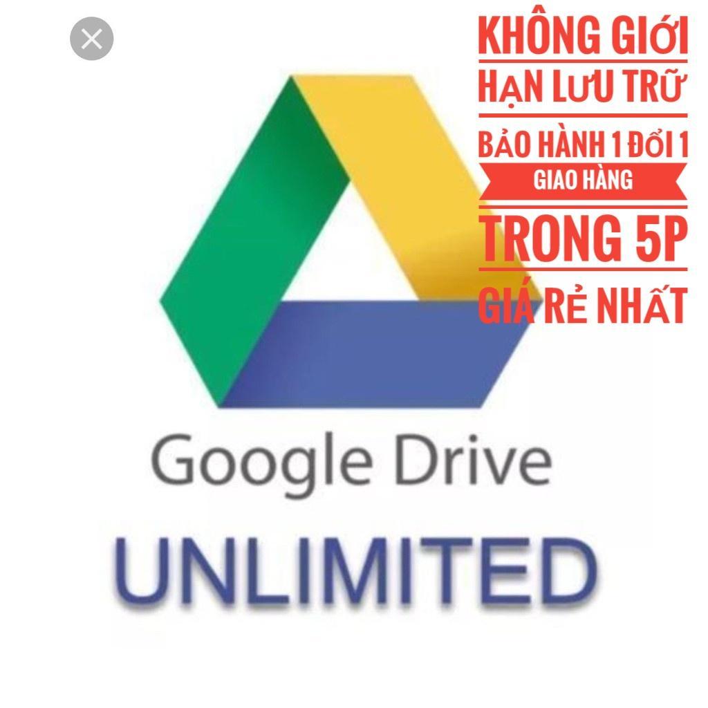 Gói dung lượng Google Drive không giới hạn