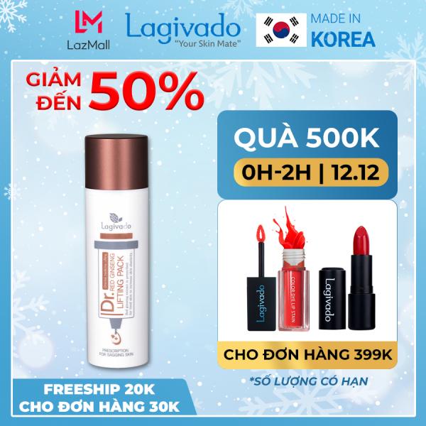 Gel mặt nạ hồng sâm Hàn Quốc Lagivado giảm mụn đầu đen, nâng cơ, se khít lỗ chân lông Dr. Red Ginseng Lifting Pack 50 ml giá rẻ