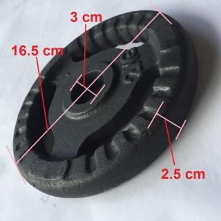 Bánh tạ gang 2kg có phi là 3 cm phù hợp để lắp vào đòn tạ tập tay, vai, ngực cho nam, nữ và trẻ em. 1 miếng tạ tròn 3 lỗ, tạ 2kg, tạ autowin thumbnail