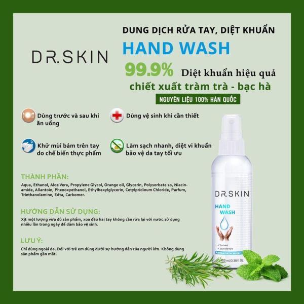 Nước rửa tay khô Dr.Skin chai 100ml