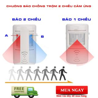 Chuông Báo Khách Cảm Ứng Hồng Ngoại Không Dây, Cảm Biến Chống Trộm. thumbnail