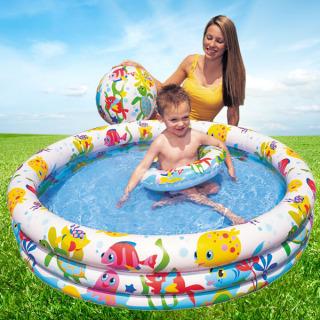 Bể bơi mini bao gồm cả bóng và phao bơi cho bé - bể Bơi Phao 3 Chi TIết Kèm Bóng Và Phao Bơi Cho Bé - Bể phao cầu vòng kèm bóng và phao - đồ dùng sinh hoạt cho bé - đồ chơi vận động cho bé - hồ phao cao cấp - đồ chơi cho bé ngày hè 6