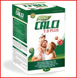 Viên Uống Bổ Sung Canxi Nano MK7 Gold - Phát triển hệ xương, chắc khỏe xương, giảm loãng xương - Hộp 30 viên sử dụng cho trẻ em trên 6 tuổi, người lớn, phụ nữ có thai và đang cho con bú thumbnail
