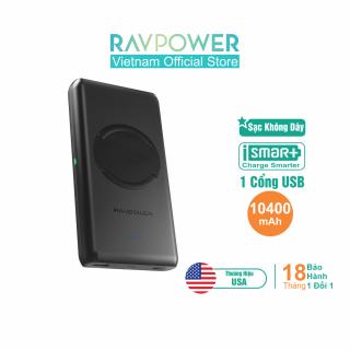 Pin Sạc Dự Phòng RAVPower 10400mAh Tích Hợp Sạc Không Dây 10W - RP-PB080 - Hàng Phân Phối CHính Hãng thumbnail