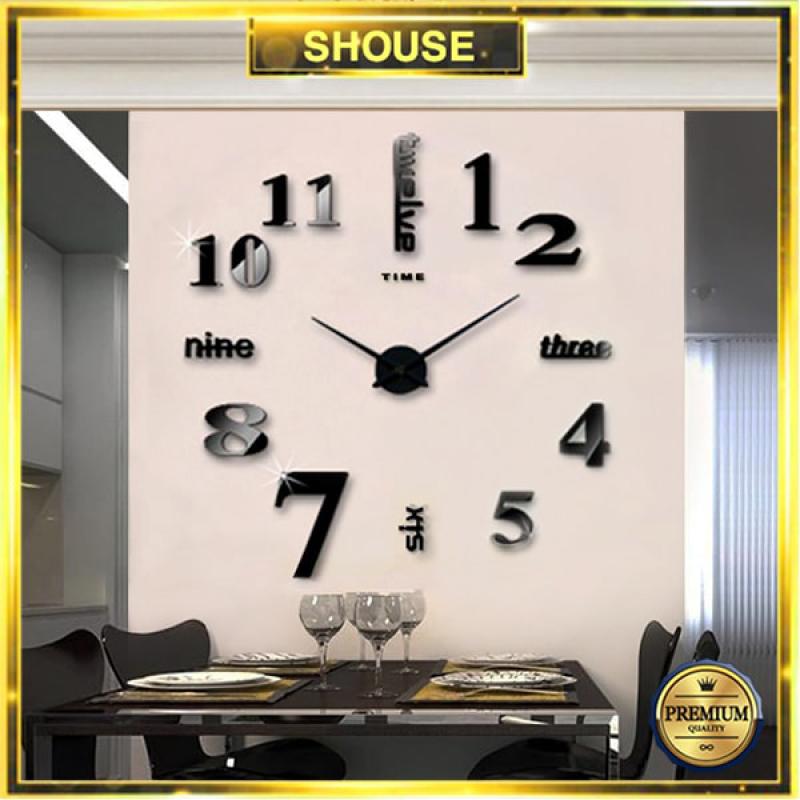 Nơi bán Đồng hồ dán tường 3D treo tường version S cỡ lớn hiện đại sang trọng cho phòng khách