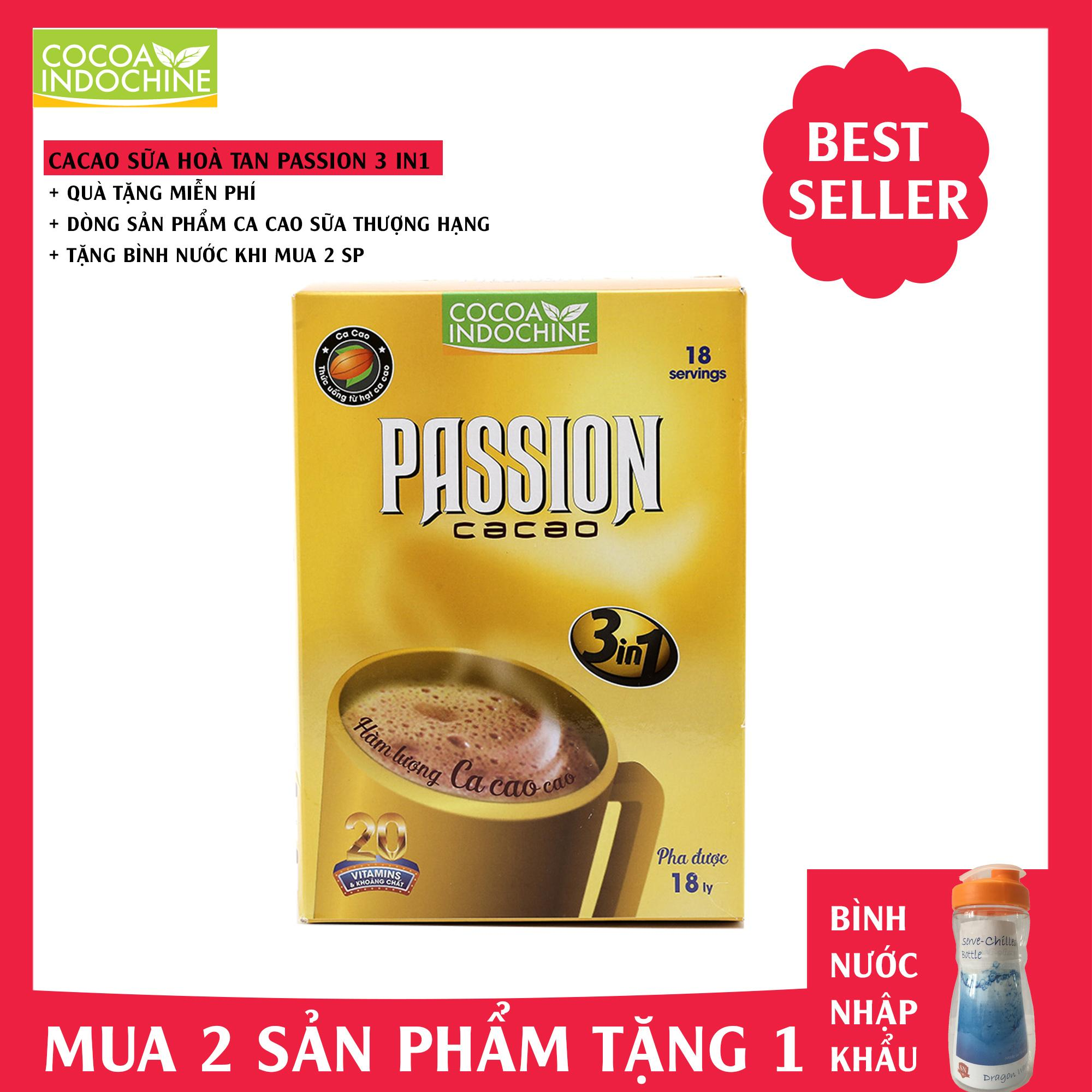 Bột Cacao sữa hoà tan Passion 3 in 1 - Cocoa Indochine