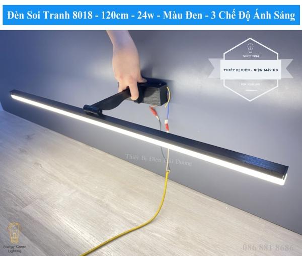 Bảng giá Đèn soi tranh - Đèn rọi gương Led Model 8018 120cm 24w 3 Chế Độ Ánh Sáng - Điều chỉnh được góc chiếu - Bảo Hành 12 Tháng