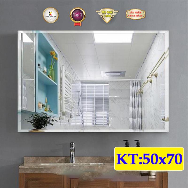 Gương soi nhà tắm mài vát cạnh treo tường kích thước 50x70 - guonghoangkim - Mirror