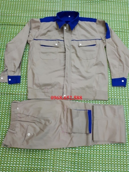 Quần áo bảo hộ lao đông chất liệu vải kaki