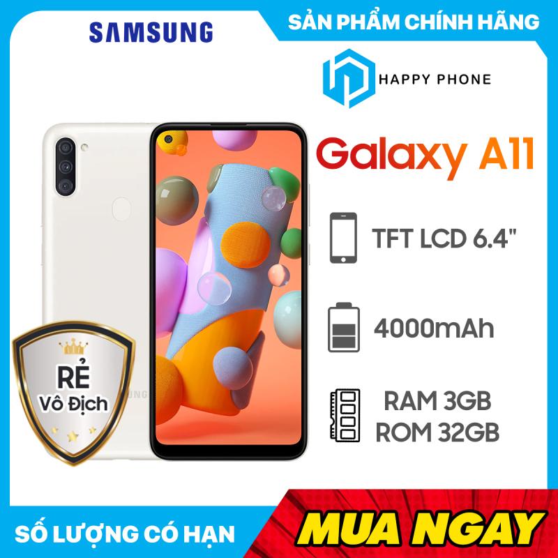 Điện thoại Samsung Galaxy A11 32GB | Hàng Chính Hãng | Mới 100%, nguyên seal | Bảo hành 12 Tháng | Pin 4000 mAh | Màn hình lớn 6.4 inch