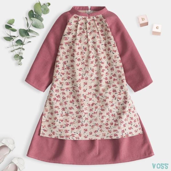 Giá bán Áo dài Cách Tân Cổ Tàu mặc Tết Cho Bé Gái Thiết Kế Siêu Xinh Thời Trang Cao Cấp