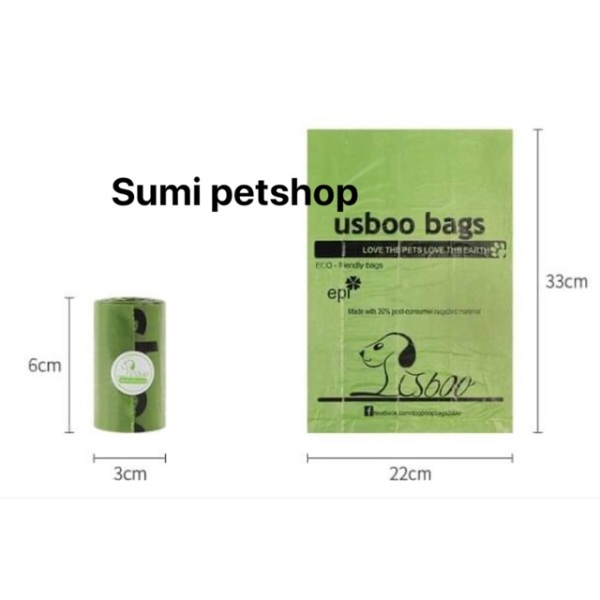 Combo 5 túi hốt phân cao cấp cho chó mèo