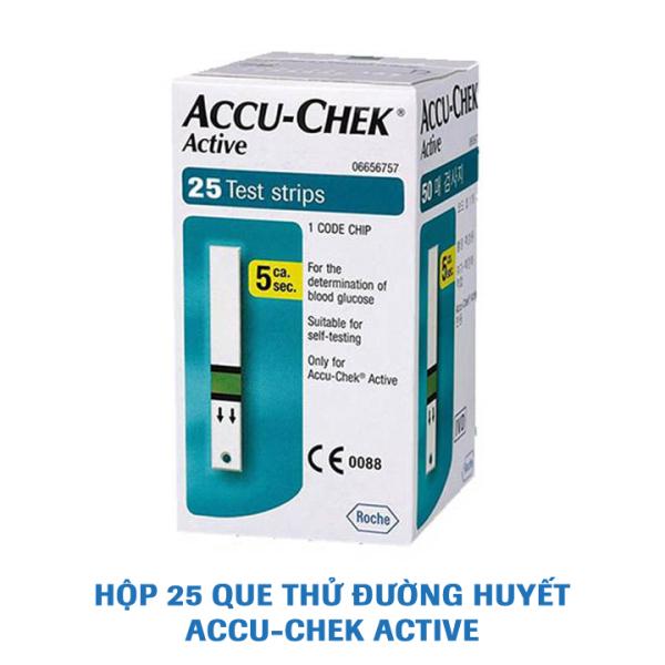 Que thử đường huyết Accu-Chek Active. Hộp 25 que bán chạy