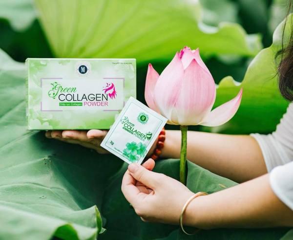 [Hàng mới] Diệp lục collagen hộp 30 gói