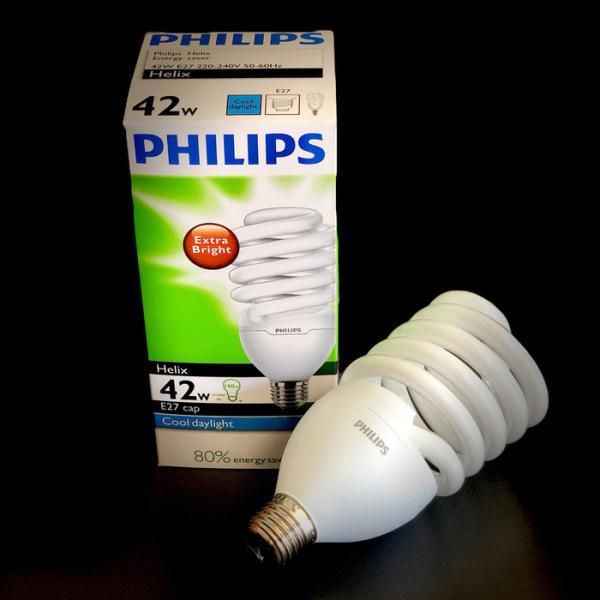 Bóng đèn Compact Philips Helix 42W, ÁNH SÁNG TRẮNG , HÀNG CHÍNH HÃNG