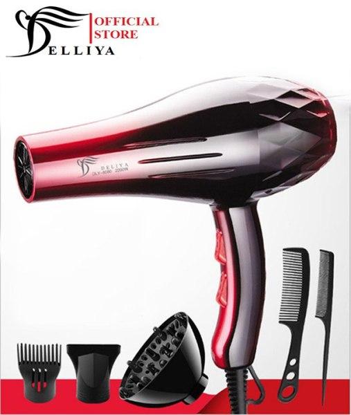 Máy sấy tóc Deliya 8080 công suất 2200W - 3 chế độ sấy nóng, vừa, mát với 2 tốc độ gió không lo tóc hư tổn [ TẶNG KÈM 5 PHỤ KIỆN & 1 PHẦN QUÀ HẤP DẪN - BẢO HÀNH 1 NĂM - 1 ĐỔI 1 TRONG 7 NGÀY ]