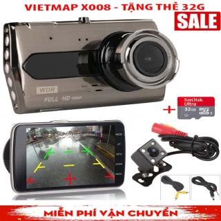 [ CHÍNH HÃNG VIETMAP ] Camera Hành Trình Viet Maps X008- Hỗ trợ tầm nhìn hồng ngoại ban đêm- Báo động qua điện thoại khi kẻ lạ xâm nhập- Bh 12 Tháng thumbnail